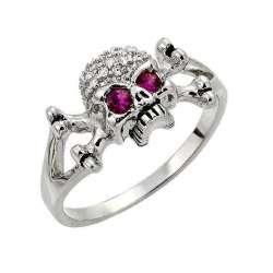 anillo BK139 Calavera ojos...